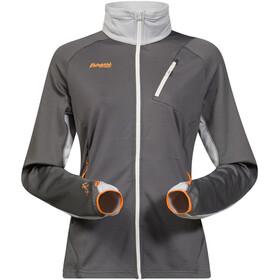 Bergans Galdebergtind Jacket Women solid dark grey/alu/pumpkin